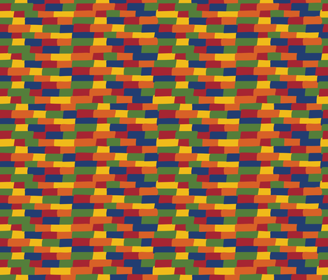 Kente building blocks fabric by cleolovescolor on Spoonflower - custom fabric