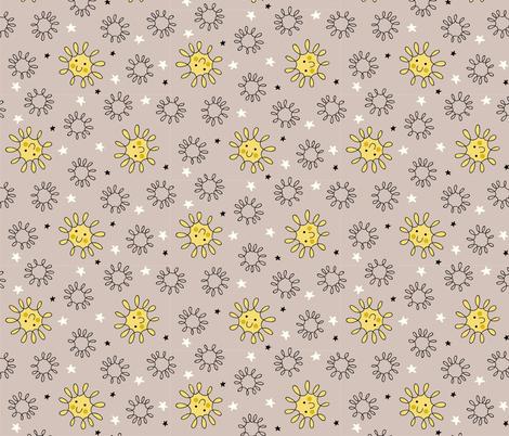 Happy Sol Gray fabric by chris_jorge on Spoonflower - custom fabric