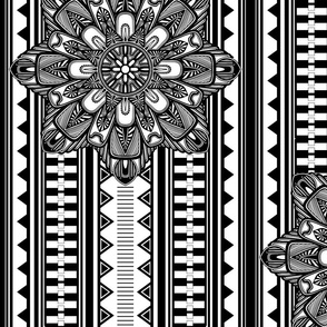 Art Deco Large Scale Black and White