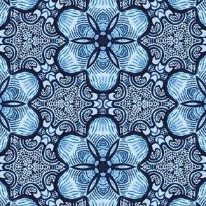 Floral Stripe Batik