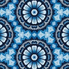 Retro Blue Daisy