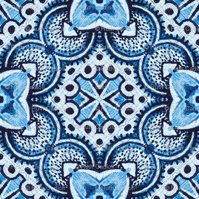 Turkish tiles in blue
