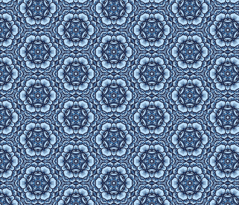 Peony Rose Blues fabric by ruth_cadioli on Spoonflower - custom fabric