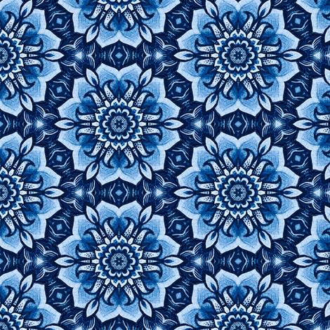 Blue Poppy fabric by ruth_cadioli on Spoonflower - custom fabric