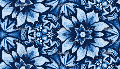 Blue Aztec Midnight Bloom
