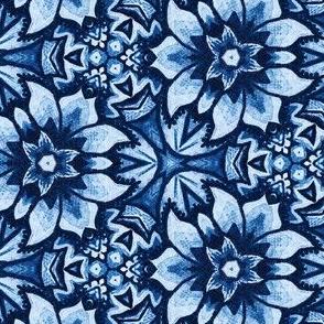 Blue Aztec Midnight Bloom