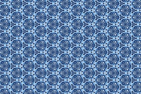 Alpine Daisy in coastal blues fabric by ruth_cadioli on Spoonflower - custom fabric