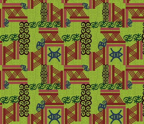 African Art fabric by surbhi1592 on Spoonflower - custom fabric