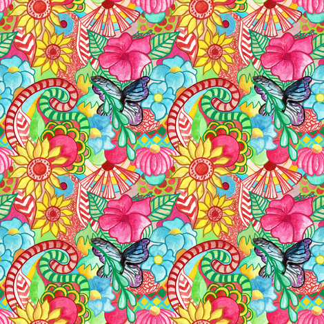 paradise lost (small) fabric by pixiesandlynn on Spoonflower - custom fabric
