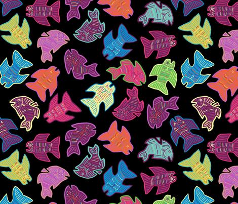 Final Fish Yard fabric by cjbart58 on Spoonflower - custom fabric