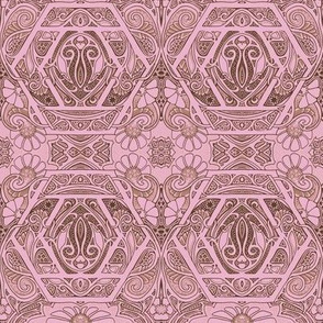 Dusty Pink Victorian Excess