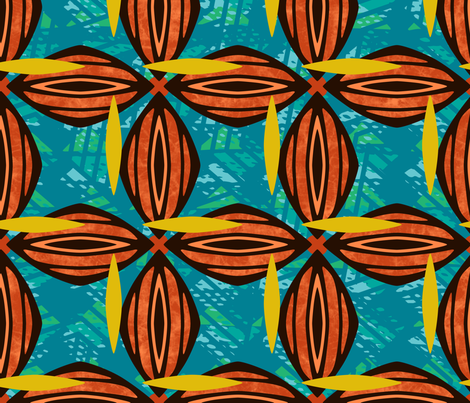 Jabulani Blossom  fabric by mariafaithgarcia on Spoonflower - custom fabric