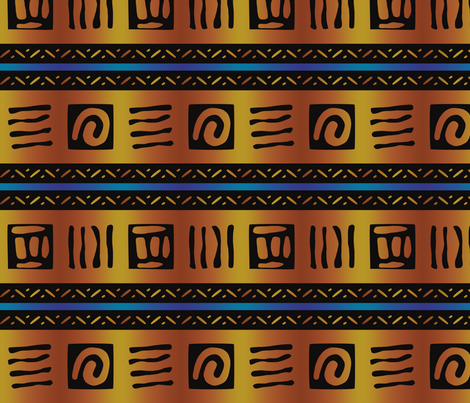 bold african pattern fabric by vintage_style on Spoonflower - custom fabric