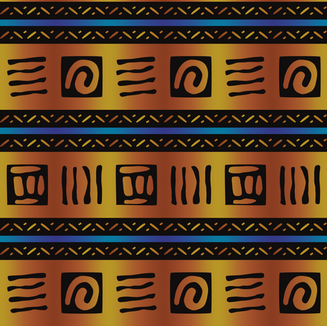 African Bold Tribal Markings fabric by vintage_style on Spoonflower - custom fabric