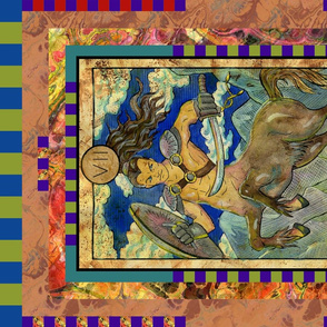 THE CHARIOT CENTAUR TAROT CARD PANEL MAJOR ARCANA