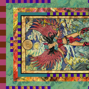 JUSTICE VALKYRIE TAROT CARD PANEL MAJOR ARCANA