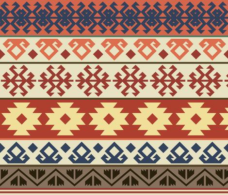 Vintage Turkish Kilim fabric by shasmeen on Spoonflower - custom fabric