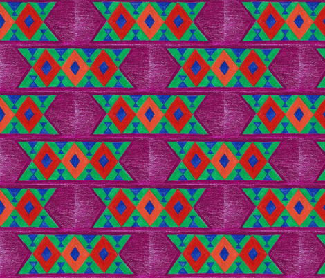 African Textile Art fabric by kate's_kwilt_studio on Spoonflower - custom fabric