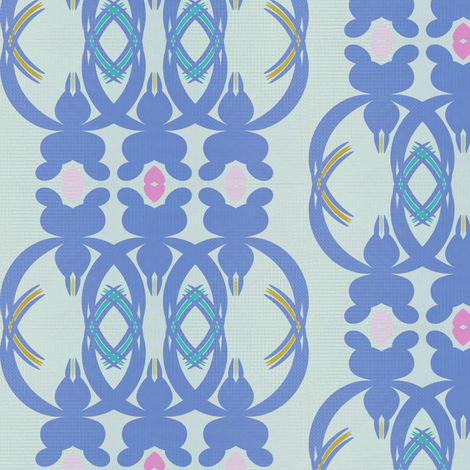 Rosemary Lane (Blue) fabric by david_kent_collections on Spoonflower - custom fabric