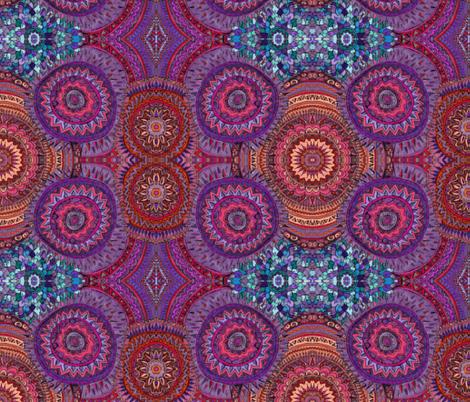 Mandala Doodle fabric by vivaaviva on Spoonflower - custom fabric