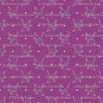 Purple Paper Cranes