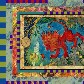 THE STRENGTH MANTICORE TAROT CARD PANEL MAJOR ARCANA