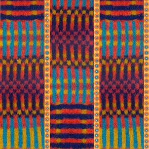 African print stripes checks circles