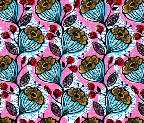 Mahiri-African-floral fabric by ottomanbrim on Spoonflower - custom fabric