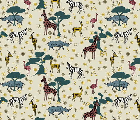 african savanna fabric by hanneke_binnen on Spoonflower - custom fabric
