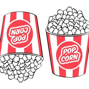 Popcorn tub - cut and sew pillow - fat quarter (R)