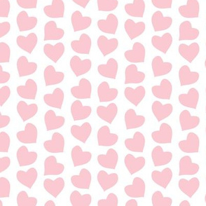 Valentines joy // white background pastel pink hearts