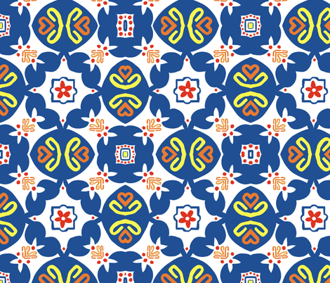 Morroco Tiled fabric by stephaniecolecreations on Spoonflower - custom fabric