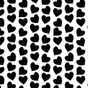 Valentines joy // white background black hearts