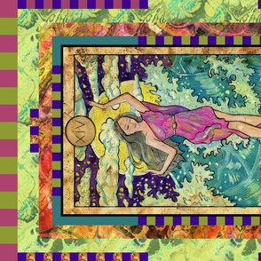TEMPERANCE SEA NYMPH TAROT CARD PANEL MAJOR ARCANA