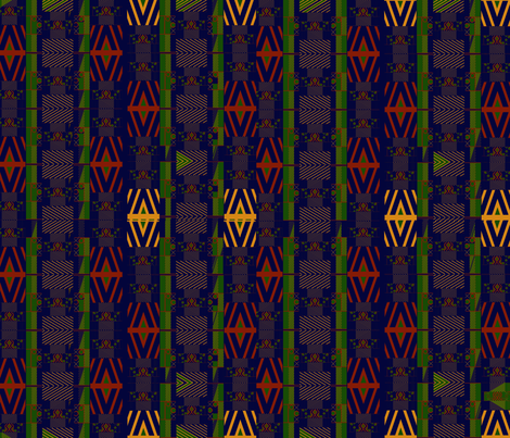 kente4miniblue fabric by scifiwritir on Spoonflower - custom fabric