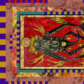 THE DEVIL DEMON TAROT CARD PANEL MAJOR ARCANA