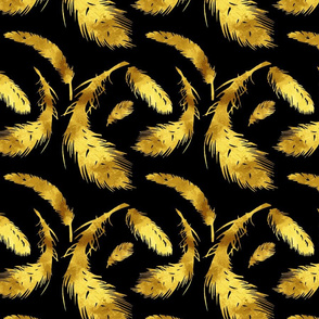 Black & Gold Feathered Flock