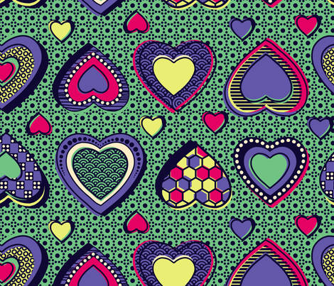 na lingi yo mingi (I love you so much) fabric by lisahilda on Spoonflower - custom fabric