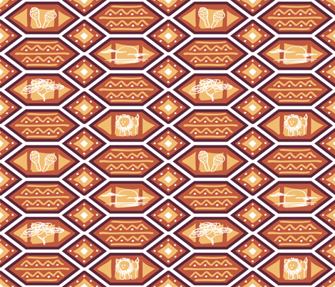 African Heat / Medium Scale fabric by boissindesign on Spoonflower - custom fabric