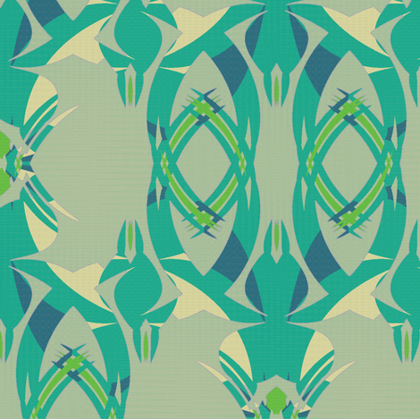 Offshore Greens (Teal) fabric by david_kent_collections on Spoonflower - custom fabric