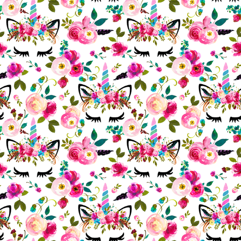"2"" boho unicorn  fabric by lil'faye on Spoonflower - custom fabric"