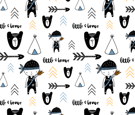Little Brave fabric by sarakristinedesigns on Spoonflower - custom fabric