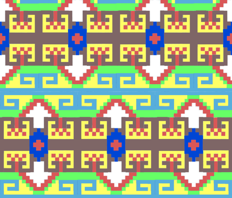 Kilim Buckle fabric by katawampus on Spoonflower - custom fabric