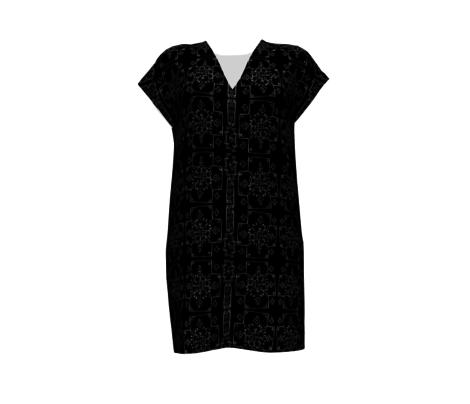 Mali Cross Mudcloth in Black, Medium