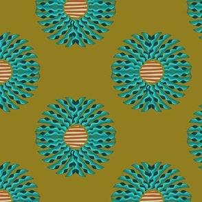 Leaf Mandala - Olive