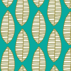 Vertical Leaves - Turquoise