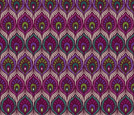 Peacock feathers fabric by olgart on Spoonflower - custom fabric