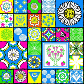 spanish tile bright