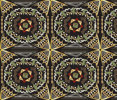 Kalahari Kaleidoscope, African inspired geometric pattern fabric by applebutterpattycake on Spoonflower - custom fabric