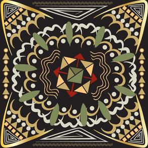 Kalahari Kaleidoscope, African inspired geometric pattern